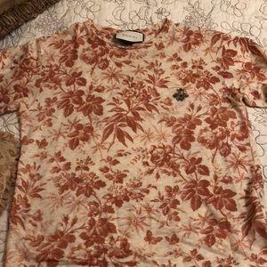 Gucci floral top size medium